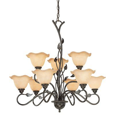 Cascadia lighting ch38809ol 9 light vine chandelier lighting cascadia lighting ch38809ol 9 light vine chandelier aloadofball Image collections