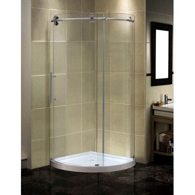 Aston Orbitus 40 X 75 Round Sliding Shower Enclosure Shower