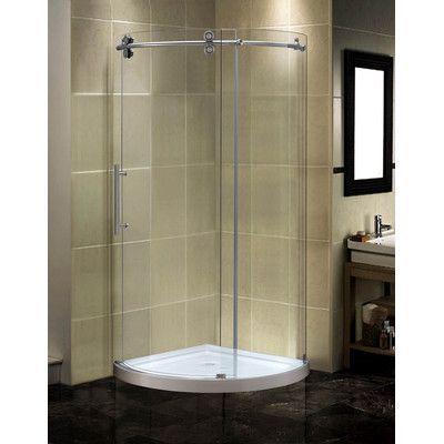 Aston Orbitus 40 X 75 Round Sliding Shower Enclosure Shower Doors Shower Enclosure Bathroom Design Small