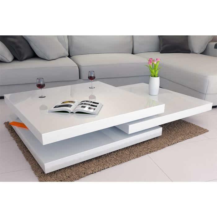 Etourdissant Table Basse Moderne Blanche Center Table Living