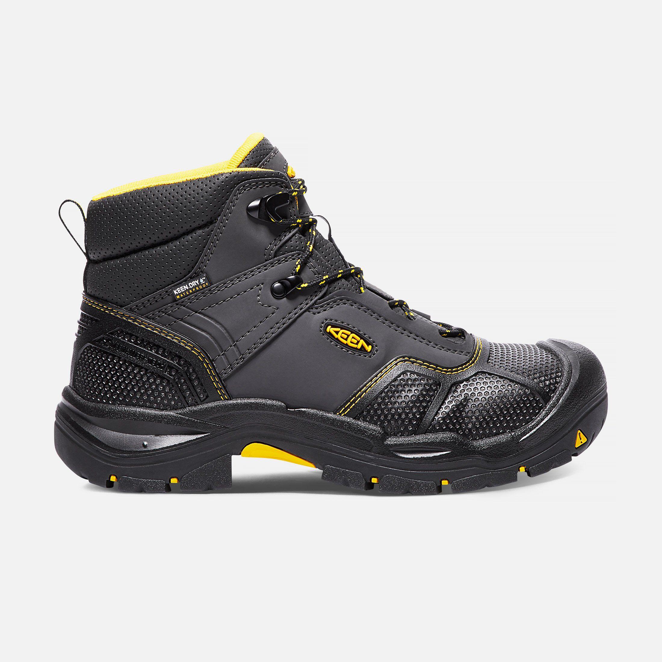 Keen Men's Waterproof Steel Toe Boots Logandale, 9 Wide