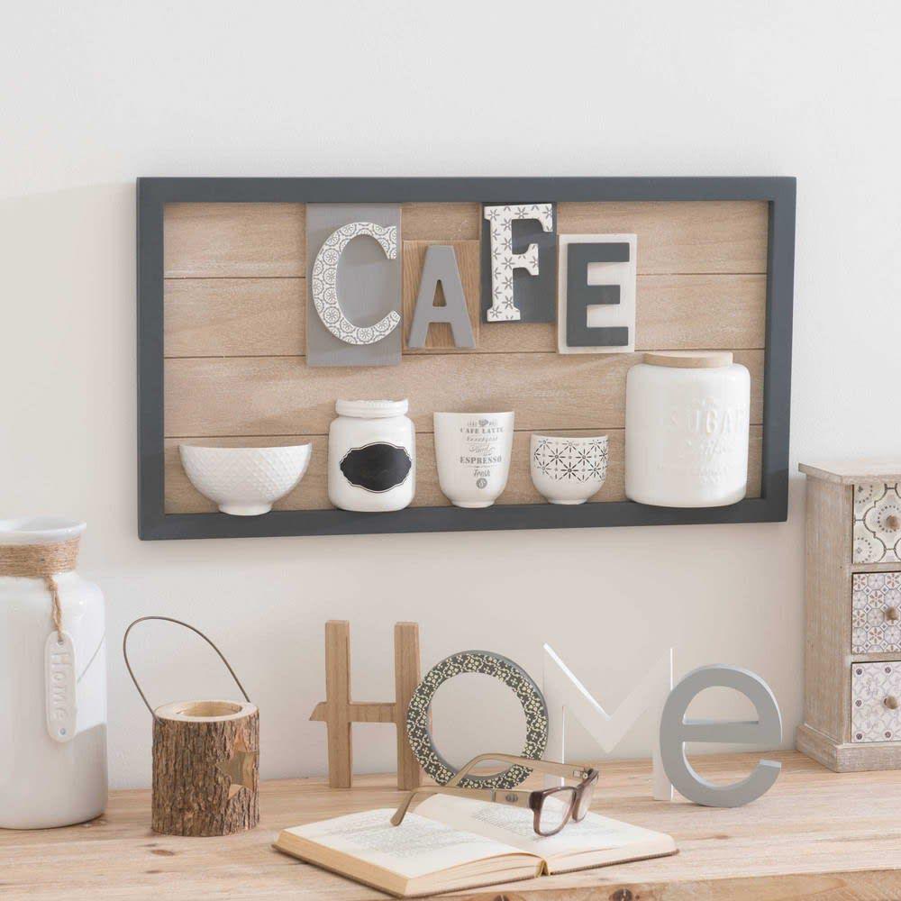 Tableau à reliefs 18x18 Café  Maisons du Monde  Meuble salle à