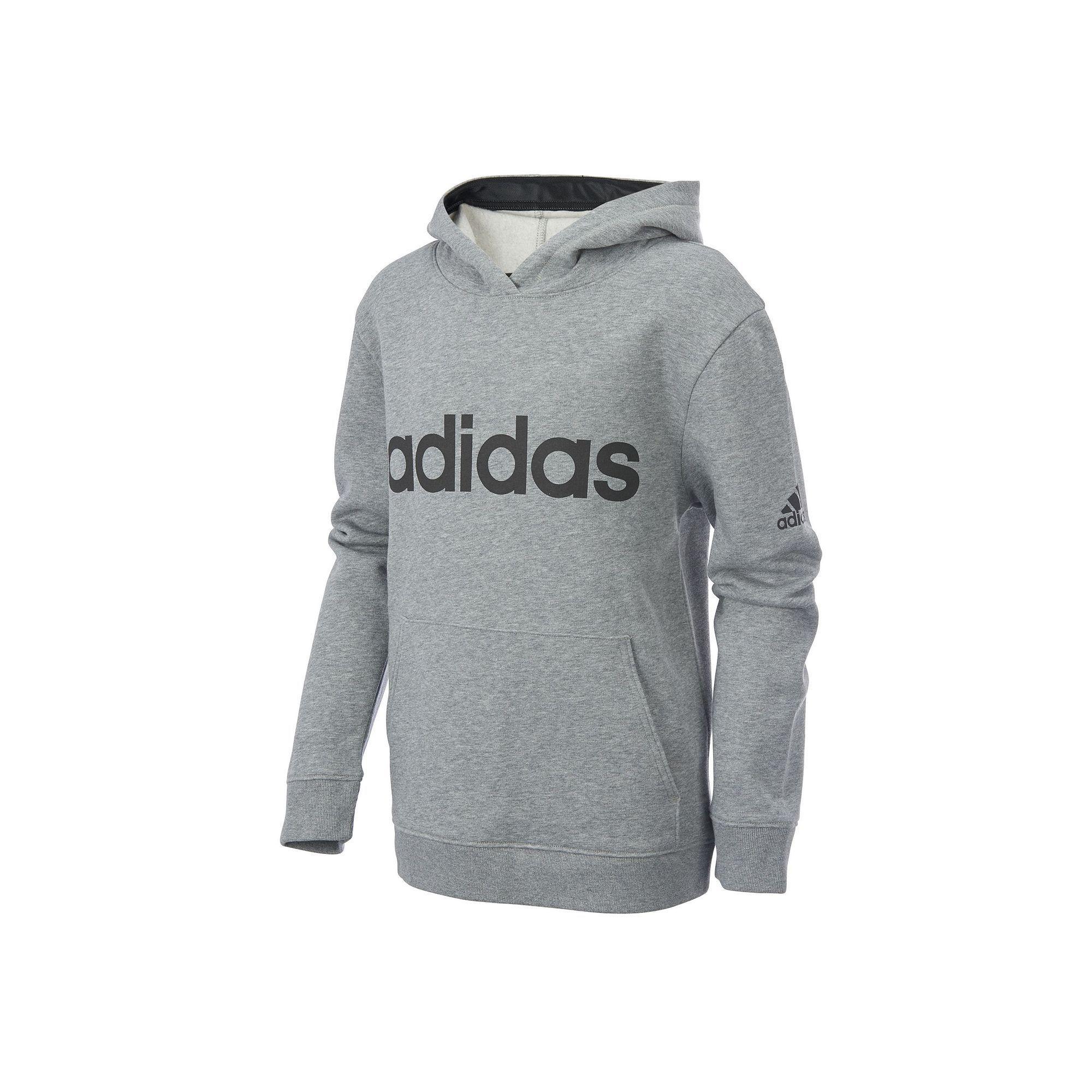 9b96a3913 Boys 8-20 Adidas Athletics Pullover Hoodie, Size: Medium, Dark Grey