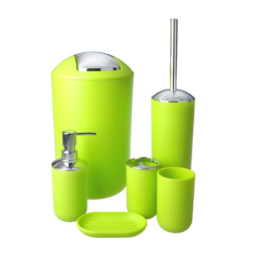 factory supplier manufacturer wholesaler apple green 6 pcs bathroom ...