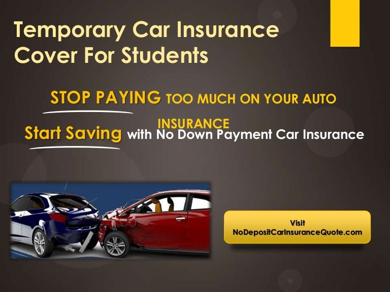 Temporary Auto insurance For University Students With Low