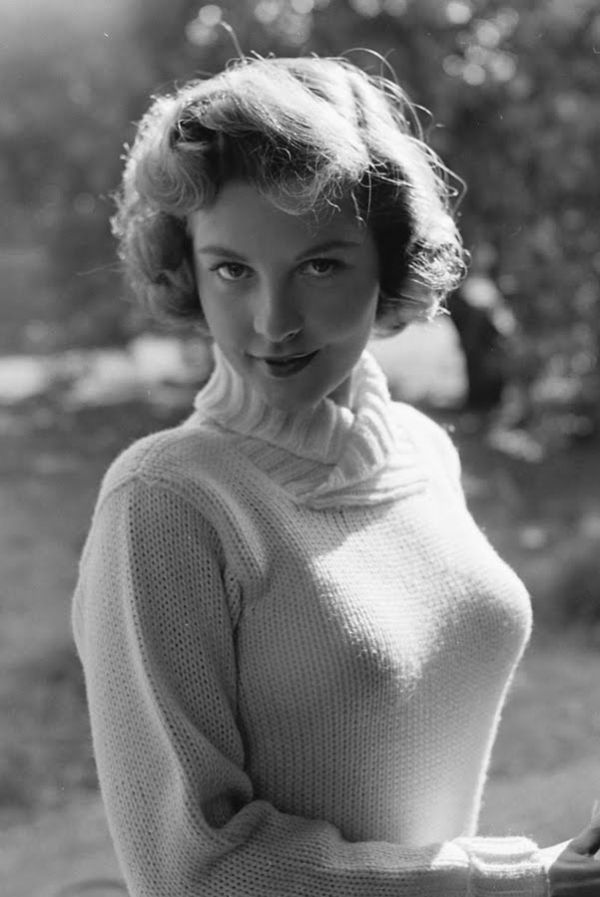 Busty girl sweater