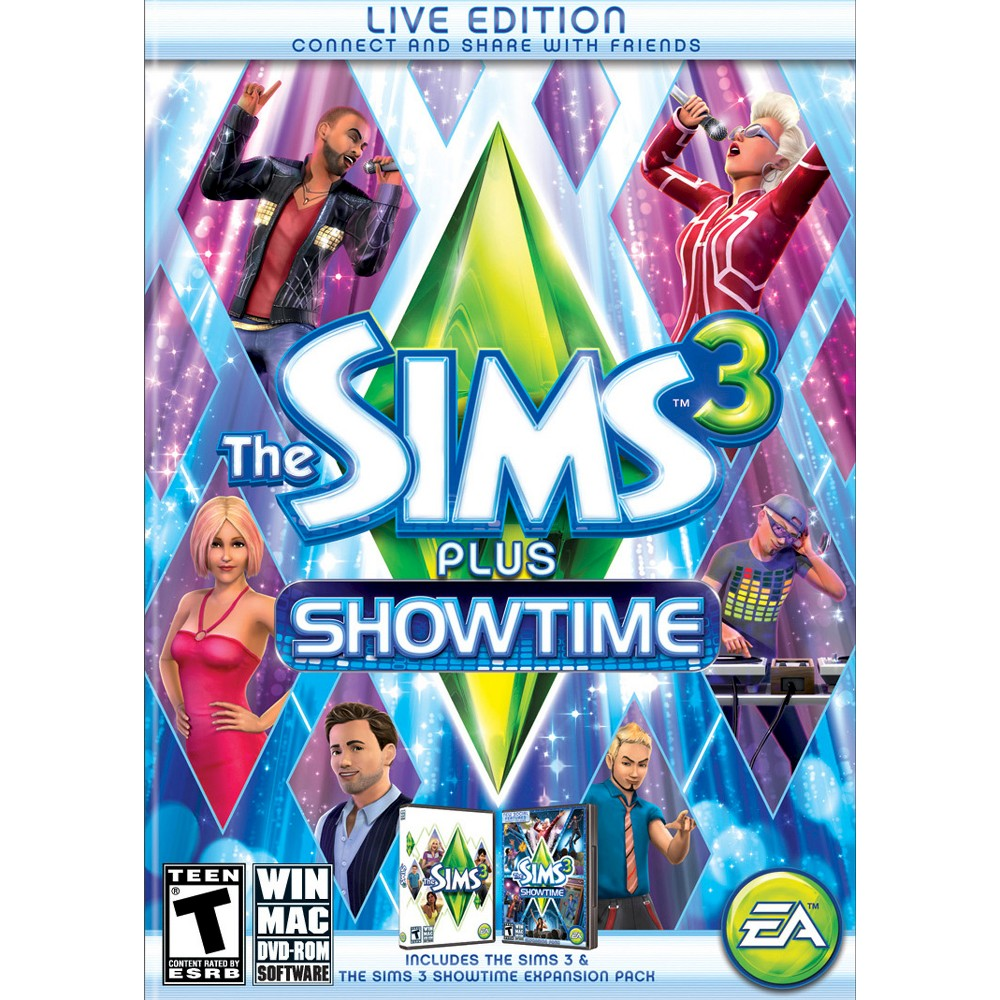 The Sims 3 Plus Showtime PC Game (Digital) Products