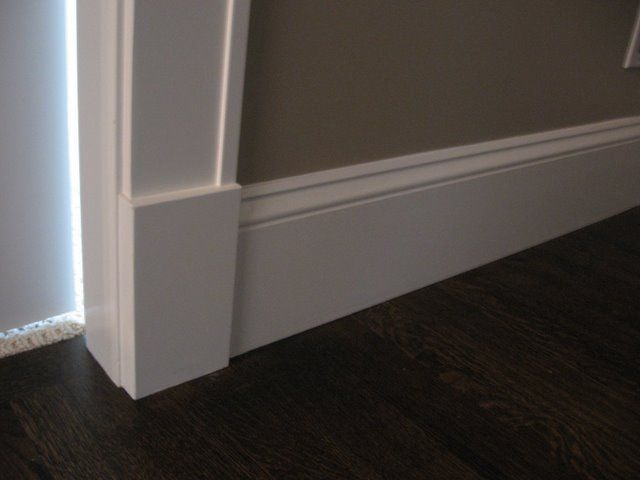 A Work In Progress Trim And Door Choices Baseboard Styles Craftsman Style Homes Interior Trim