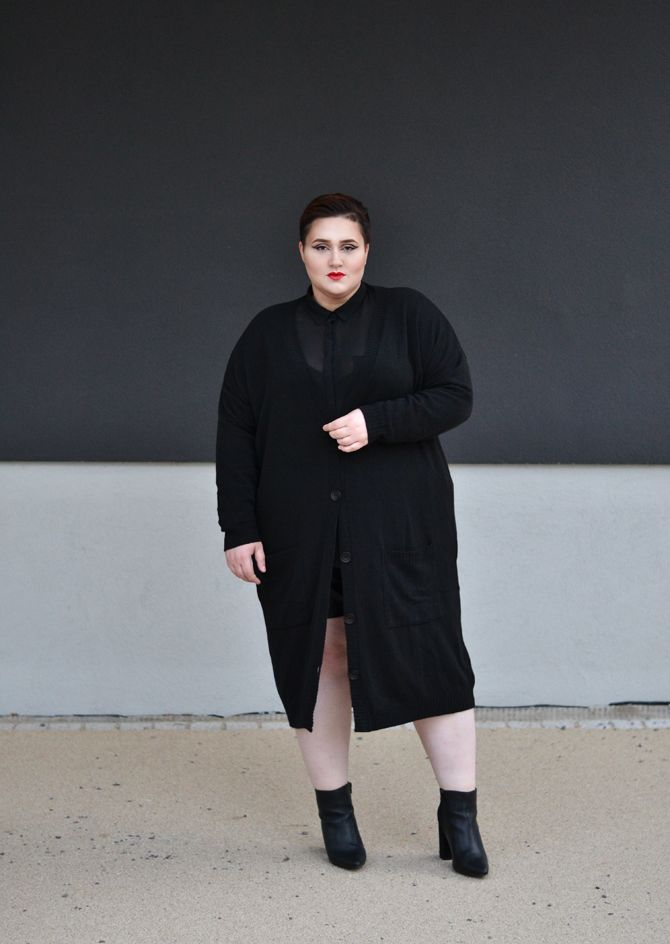 Dressing Outside The Box: knitwear: long cardigan
