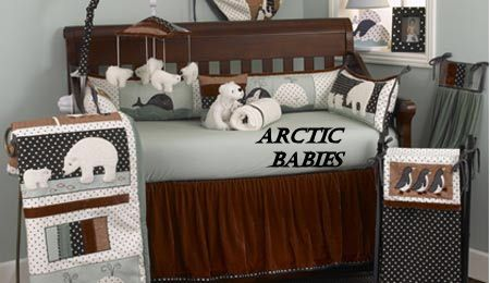 Polar Bear Baby Penguin Arctic Nursery Crib Bedding Sets