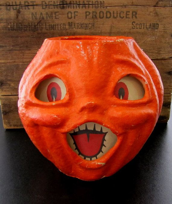 Pin By Dorinda Selke On Happy Halloween Vintage Halloween Halloween Paper Paper Mache Pumpkins