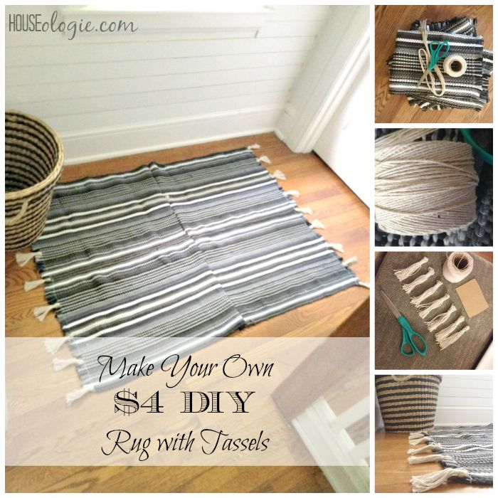4 Diy Rug With Tassels Diy Rug Upholstery Diy Cleaning Upholstery