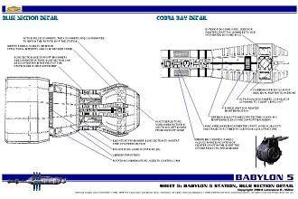 Clified Babylon 5 Blueprints sheet 5 | Babylon 5 | Babylon 5 ... on robotech schematics, star trek space station schematics, deep space 9 schematics, andromeda ships schematics, stargate schematics,