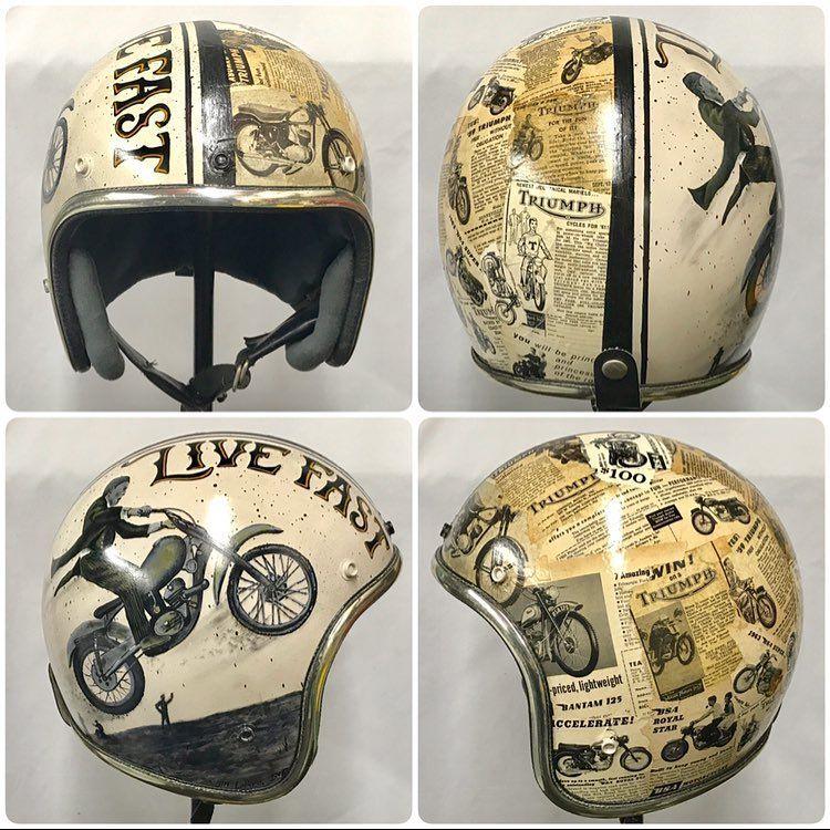 No Photo Description Available With Images Motorcycle Helmets Vintage Motorcycle Helmets Motorbike Helmet