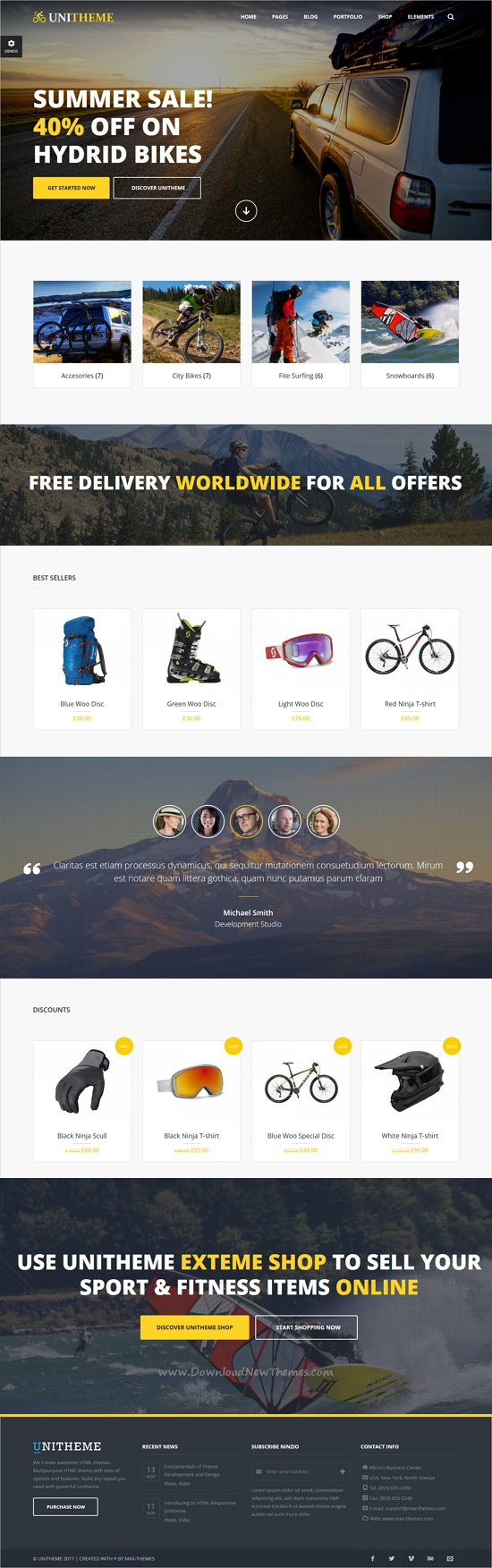 UniTheme - Responsive Multi-Purpose HTML Template | Ecommerce ...