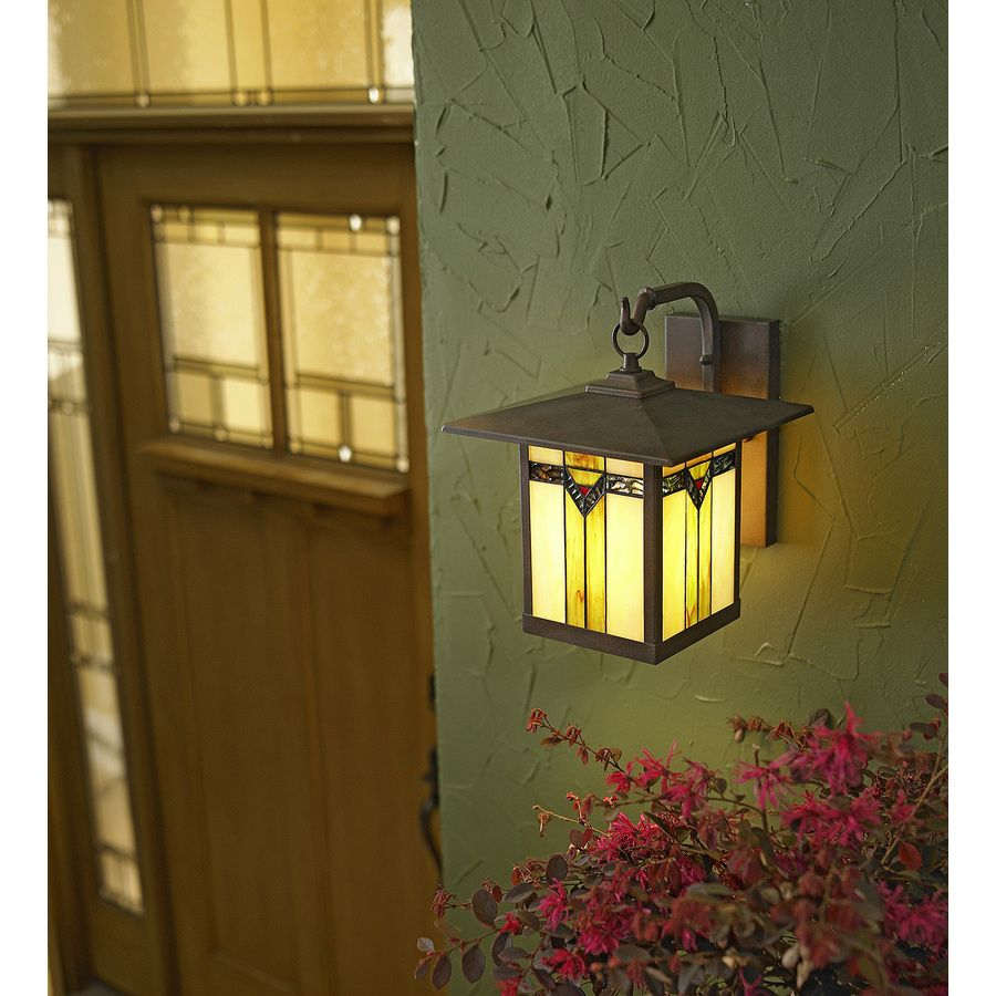 Shop allen + roth Vistora 11.75-in H Bronze Outdoor Wall Light at ...
