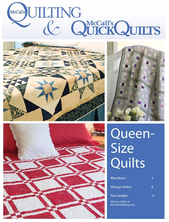 FREE QUEEN SIZE QUILT PATTERNS eBOOK Complete patterns for 3 ... : quilting for dummies free ebook - Adamdwight.com