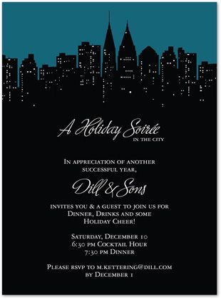 City In Holiday Christmas Party Invitations 26456 Party City Invitations Christmas Party Invitations Invitations
