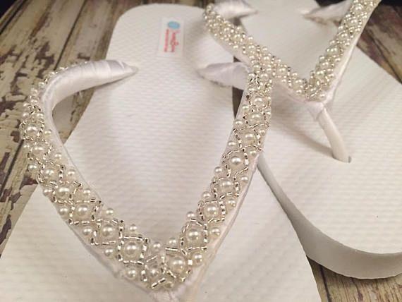 401c5c8257017c Beaded Bridal Flip Flops