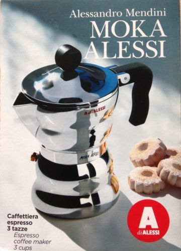 Alessi 3 Cup Moka #espresso Coffee Maker With #thermoplastic #resin Handle  And