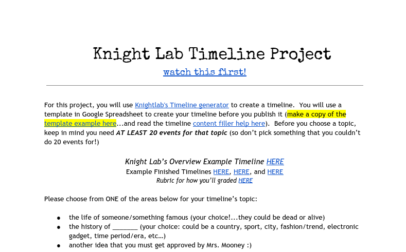pin by amy wendl on final project prep timeline generator