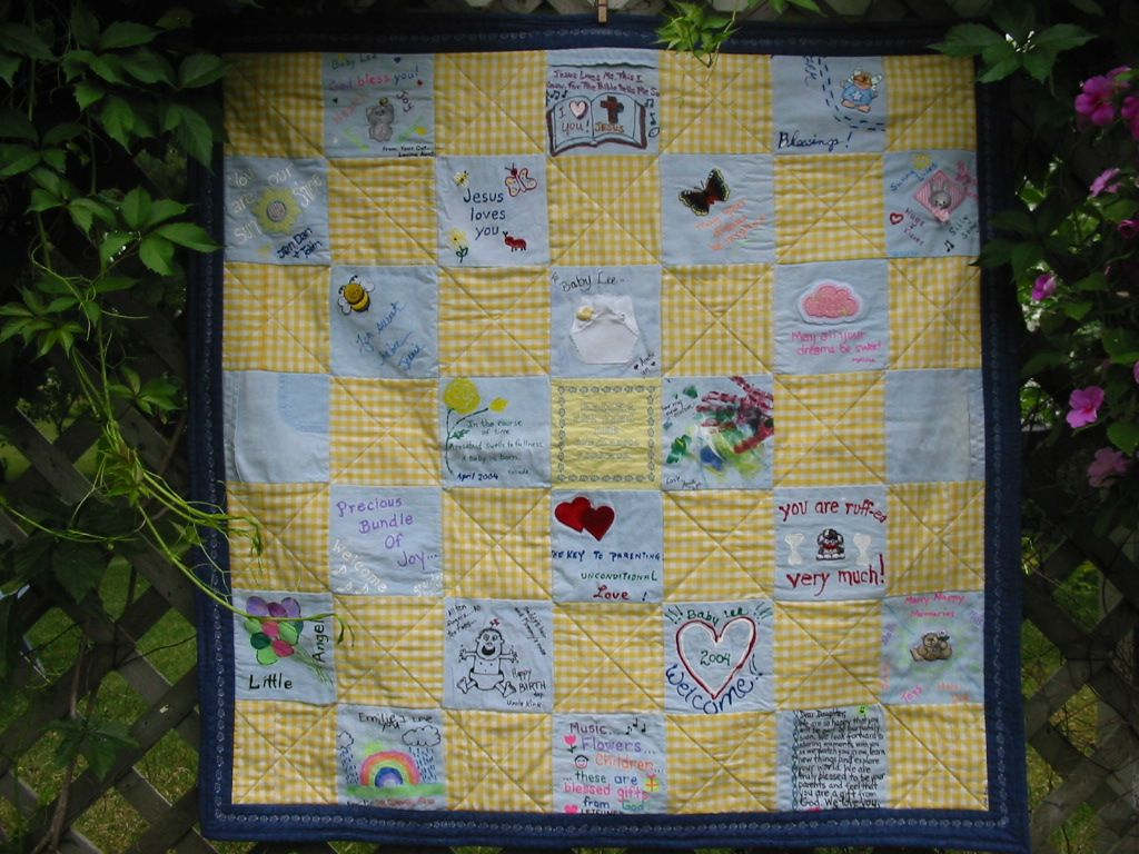 BABY SHOWER QUILT SQUARE IDEAS Baby Shower