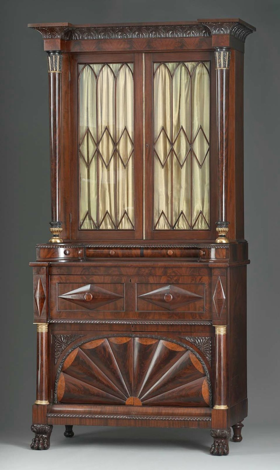 Desk And Bookcase About 1830 Anthony G. Quervelle, American (born In  France). Furniture MakersEmpire ...