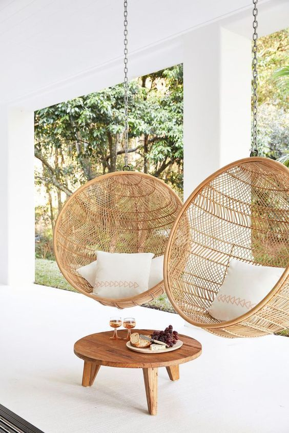 Photo of Biophilia Interior Design and How You Can Use It In Your Home – Window Rattan Swing Chairs
