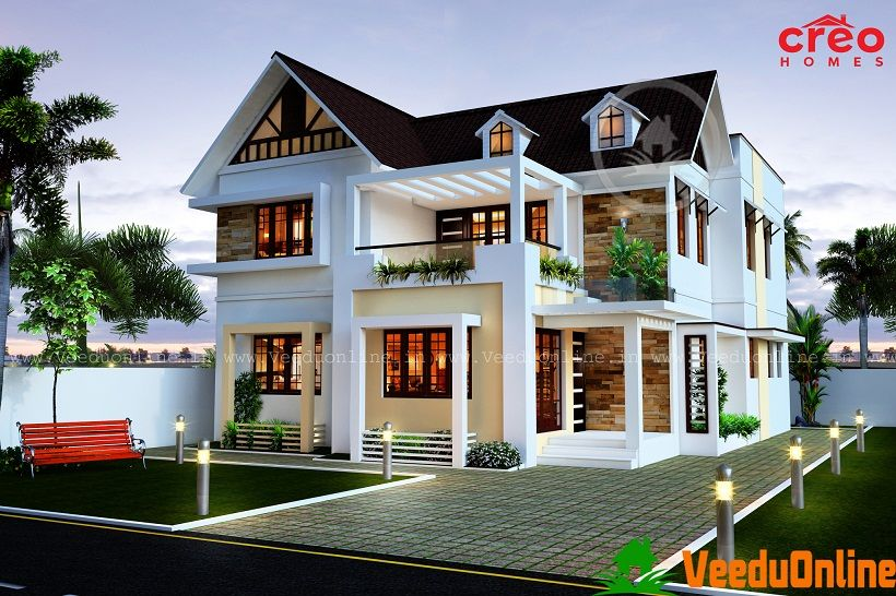 2099 Square Feet Double Floor Contemporary Home Design ...