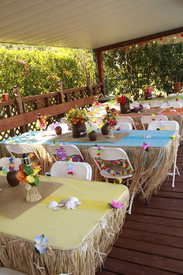 Tropical Party Decorating Ideas Hawaiian Luau St Birthday Party