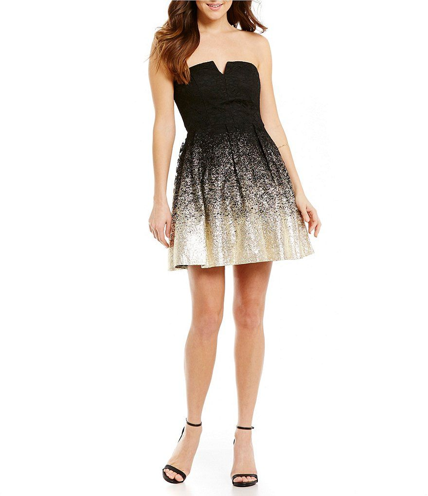 ed814dad8de Black And Gold Homecoming Dresses Dillards