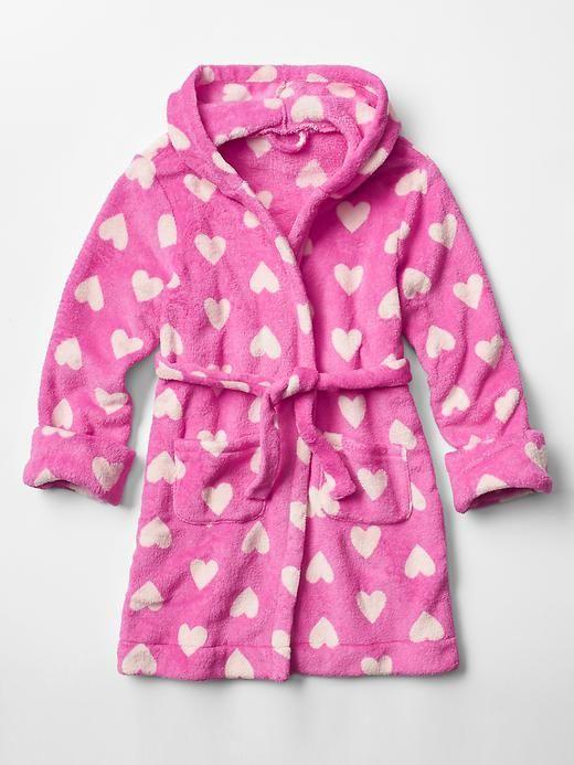 Heart fleece sleep robe Product Image