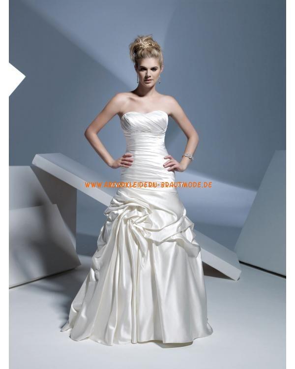 Traumhafte Brautkleider 2013 modisch aus Satin mit Schleppe A-LInie ...