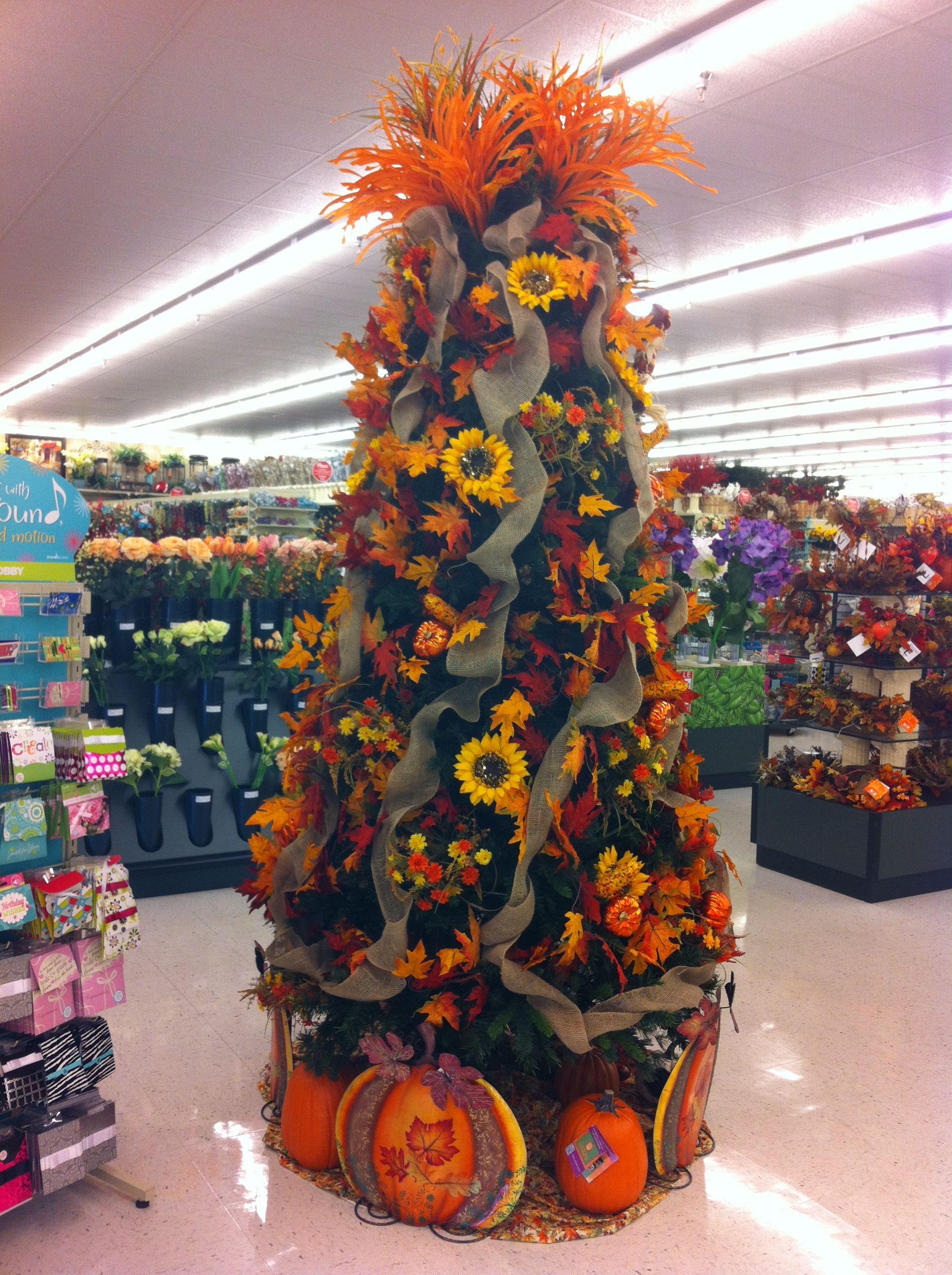 Fall Tree At Hobby Lobby Fall Christmas Tree