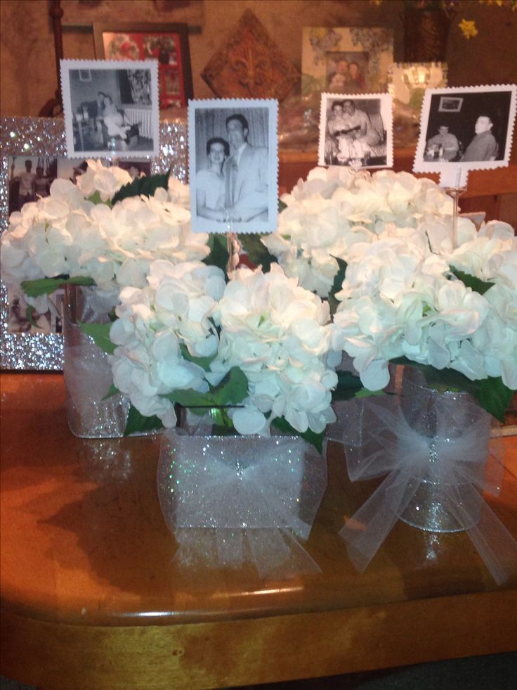 60th anniversary party idea for table centerpiece put a for 40th wedding anniversary decoration ideas