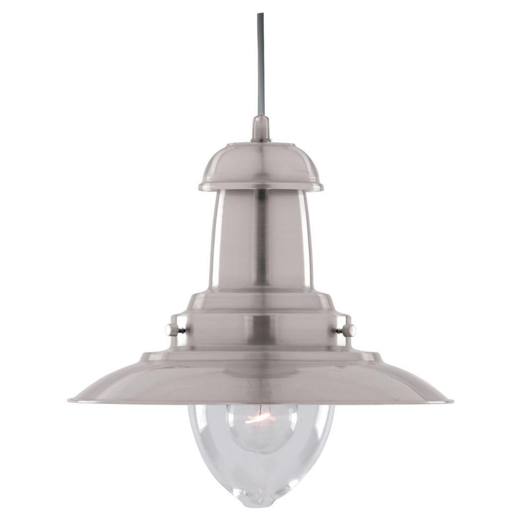 Searchlight Fisherman Ceiling Light Lantern Satin Chrome