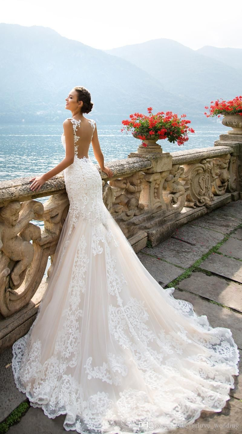 magnificent champagne mermaid wedding dresses robe de mariée