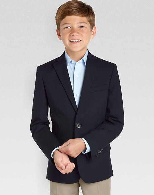2f1e2fa4f Calvin Klein Boys Navy Husky Fit Blazer - Boy's Blazers | Men's Wearhouse
