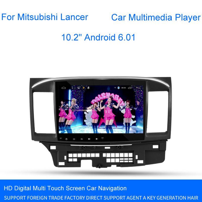 10 2 Android 6 01 Car Gps Multimedia Player For Mitsubishi Lancer Player Stereo Auto Radio Head Unit Navigation Affili Car Gps Car Electronics Car Navigation