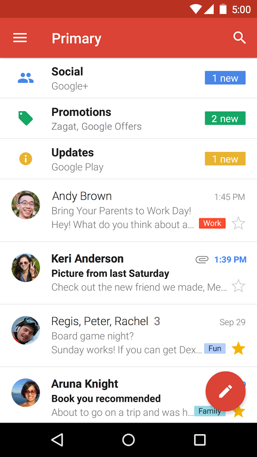 Download Gmail Free Android Apps V 5.3.95312851 Social