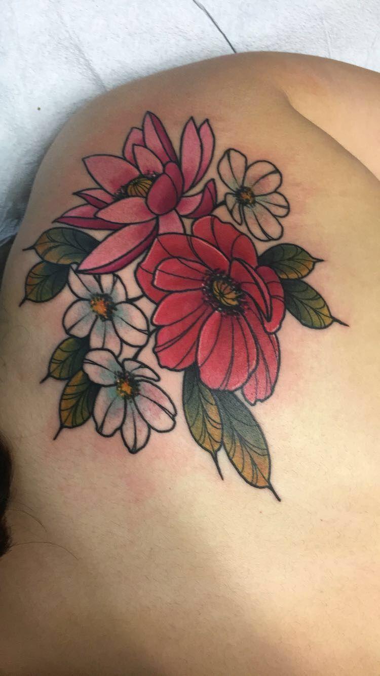 Tattoo By Brian Savage Black Lotus Tattoo In Arizona One Of My Six Tattoos So Far And My Biggest Overall Black Lotus Tattoo Tattoos Cover Up Tattoo