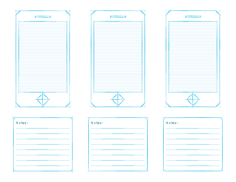 iphone 5 wireframe template ai - Google Search | Ui