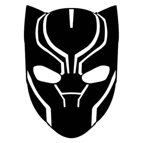 black panther marvel comics avengers sticker vinyl decal window rh pinterest com black panther logo shirts black panther logo for business card