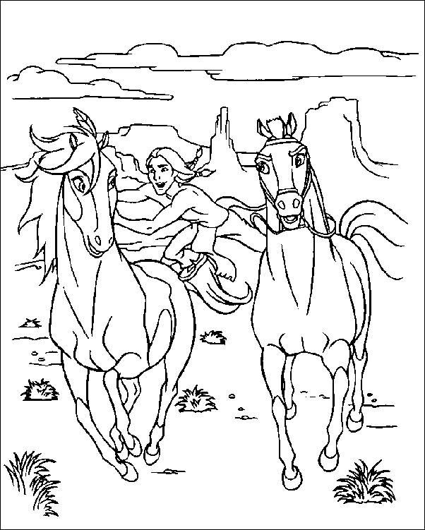 Free Horse Pictures To Color Horse Western Colouring Pages