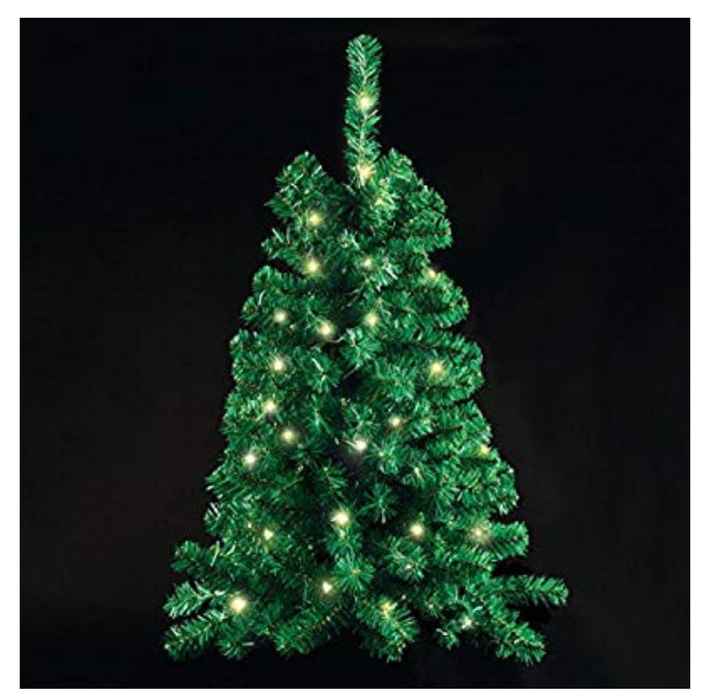 Wall Mounted Christmas Tree Lighted And 3 Feet Tall By Ideaworks Ideaworks Wall Mounted Christmas Tree Pre Lit Christmas Tree Christmas Tree