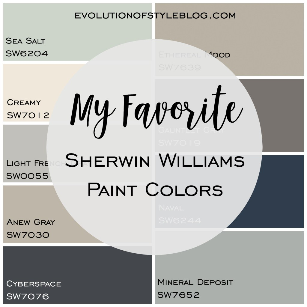 My Favorite Sherwin Williams Paint Colors #indoorpaintcolors