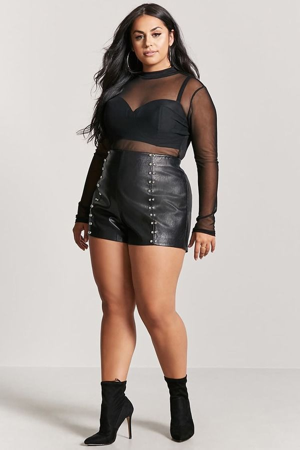 46bec8e8fee Forever 21 FOREVER 21+ Plus Size Faux Leather Shorts