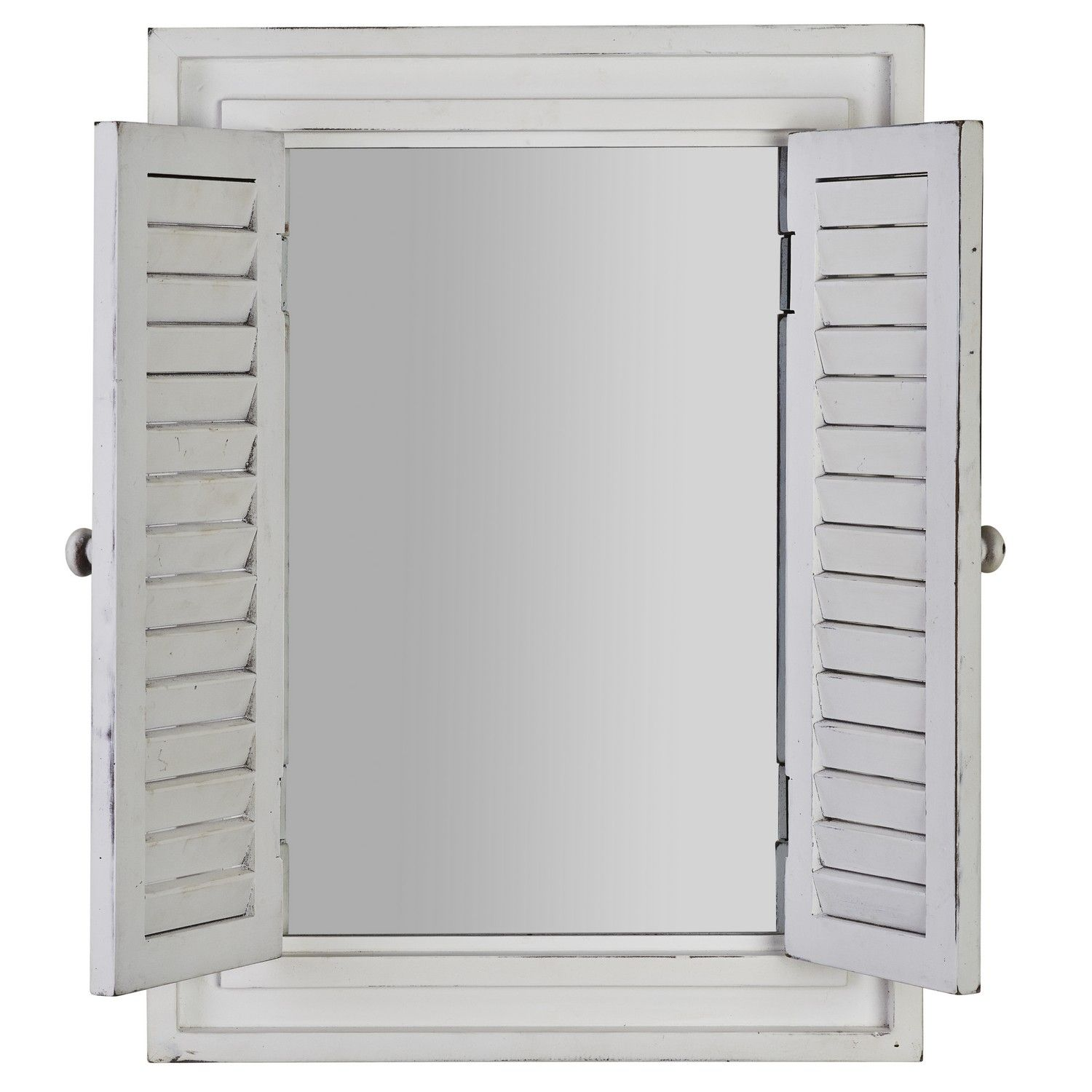 The Shutter Mirror Features A Square Mirror Set Inside A