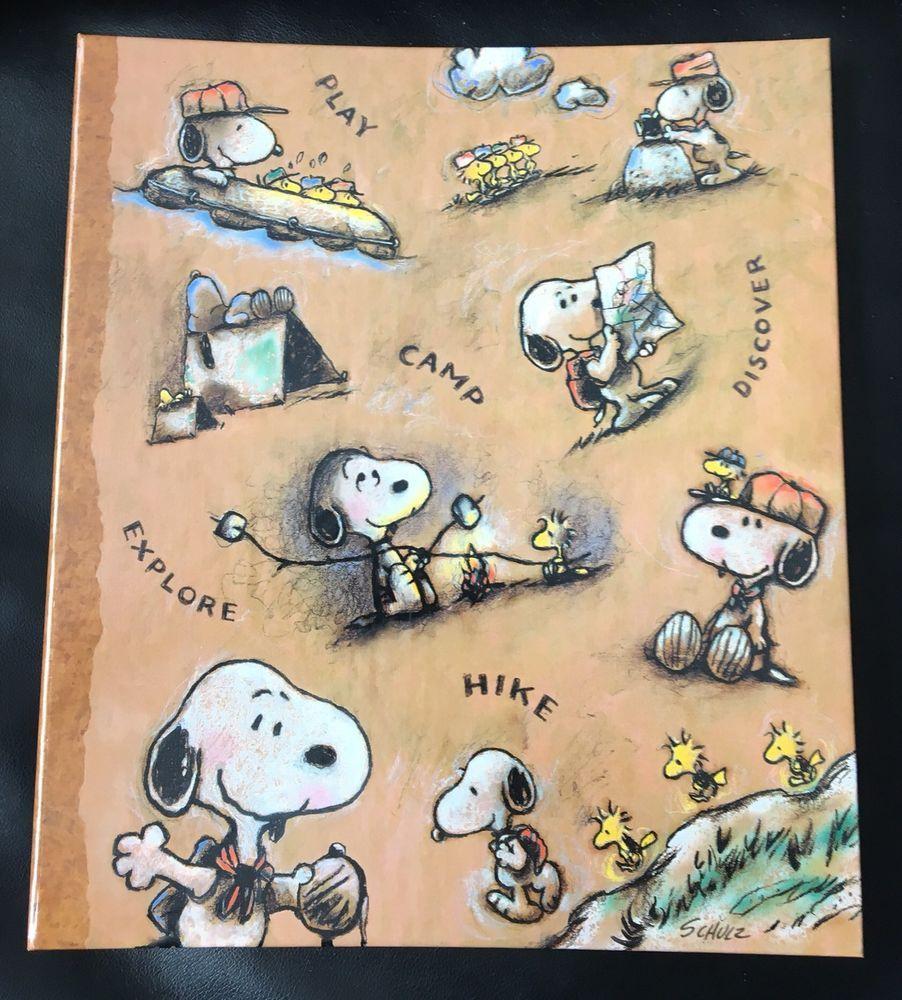 Vtg Hallmark Snoopy Camping large 3-Ring Binder Photo ...