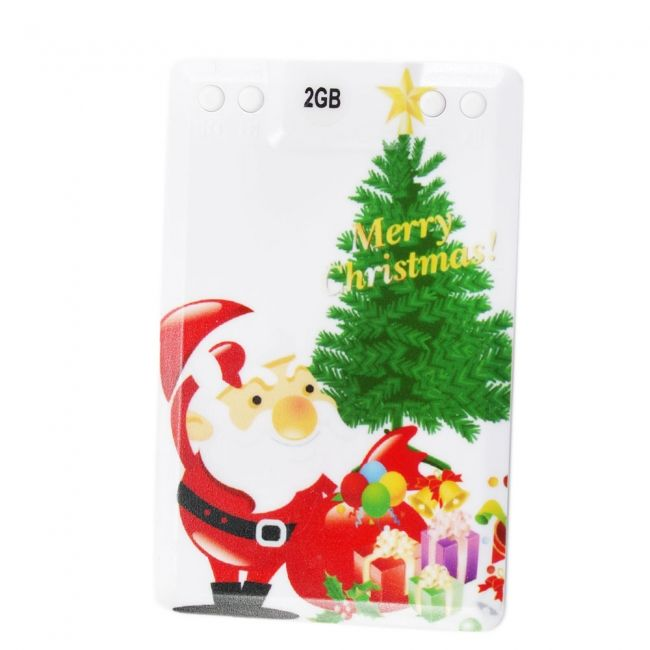 2gb gifts under the christmas tree credit card mp3 player